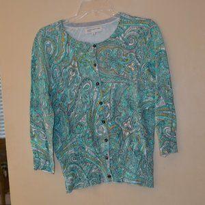 Jones New York Sport cardigan sweater - size M.